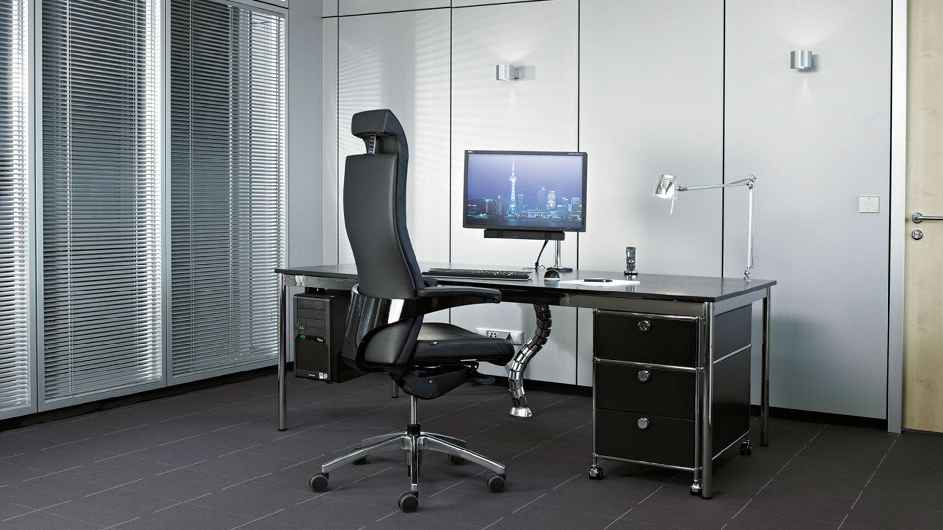 schreibtisch chefschreibtisch gr e 200 x 100 cm mit schwarzer echtholz tischplatte schreibt. Black Bedroom Furniture Sets. Home Design Ideas