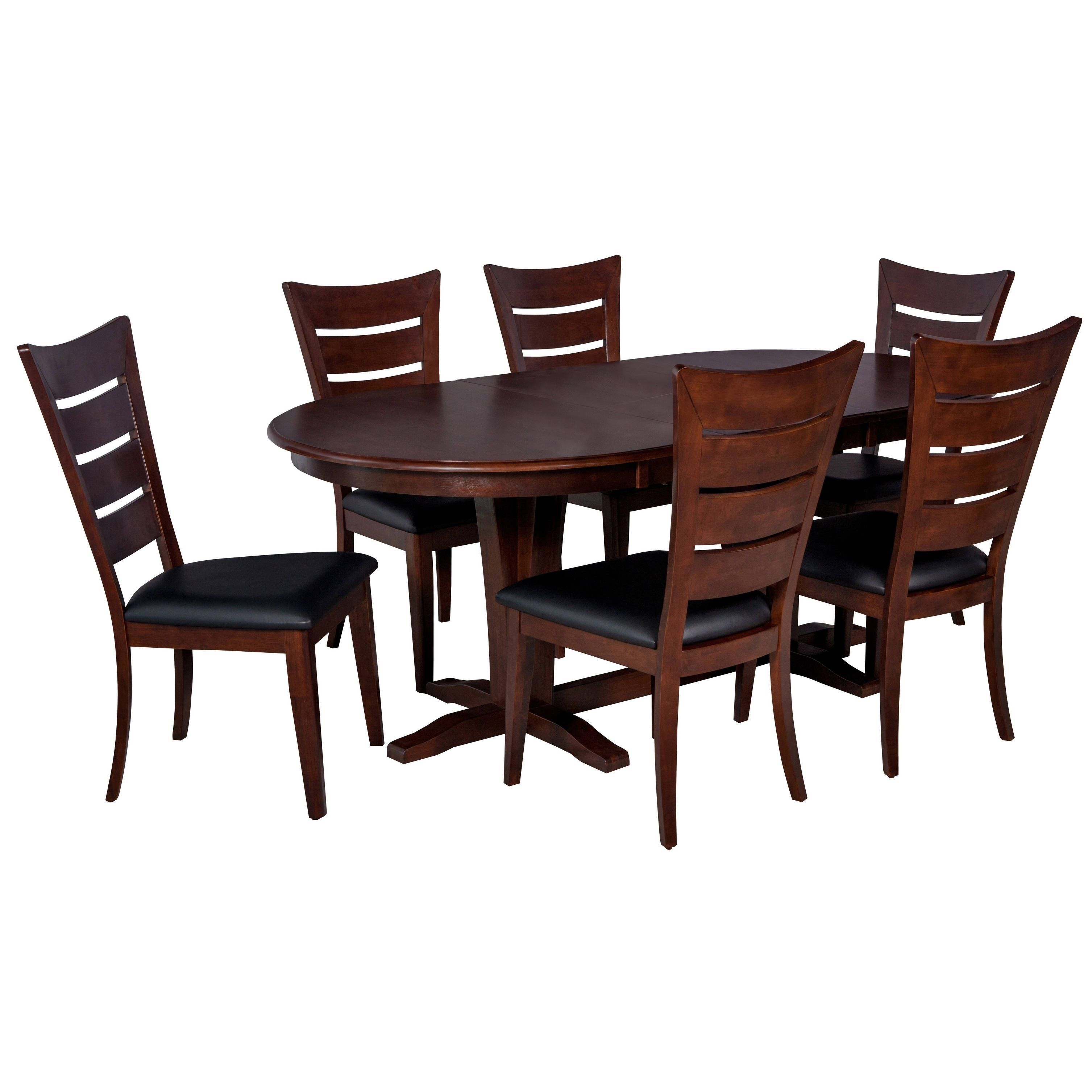 Ttp furnish piece solid wood dining set