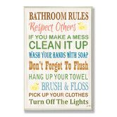 Found it at Wayfair - Bathroom Rules Rubber Ducky Typography Bathroom Wall Plaque