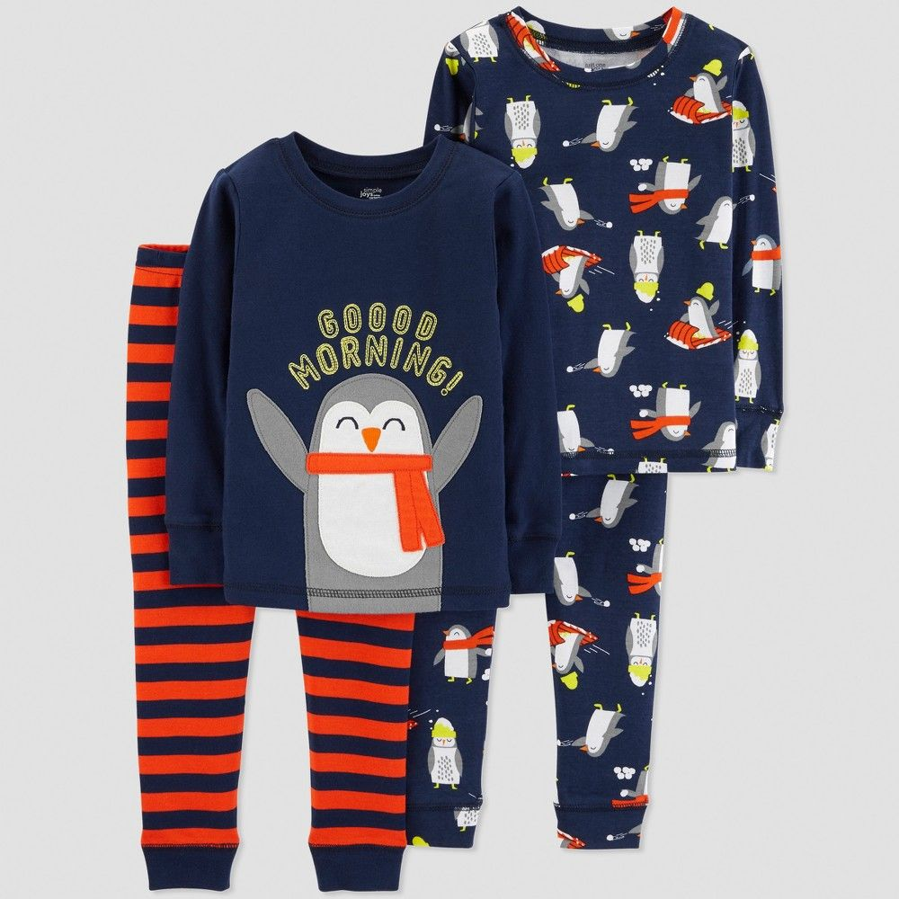 765b239a0 Baby Boys  4pc Penguin Pajama Set - Just One You made by carter s ...