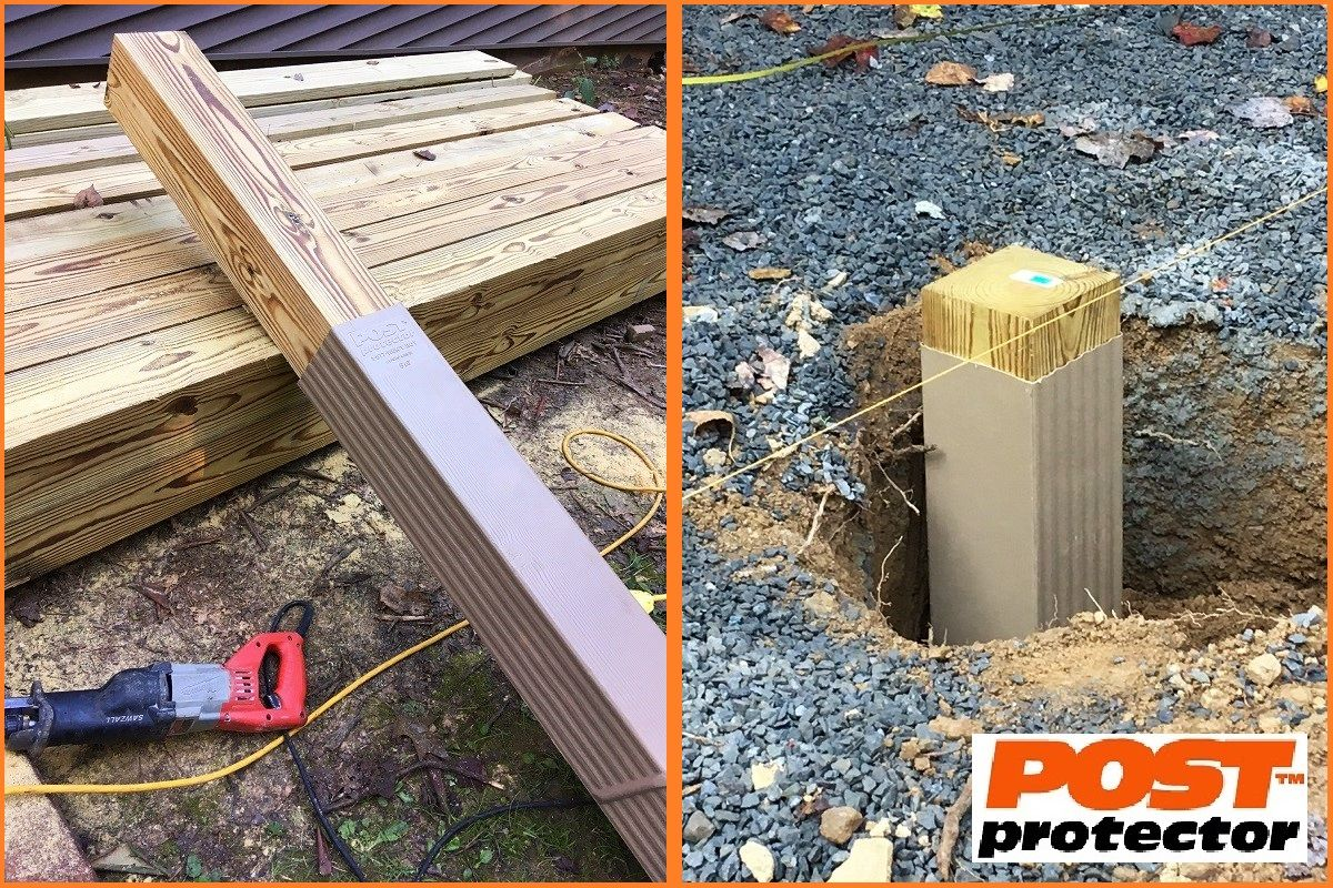 Post Protector Provides Post Decay Rot And Chemical Migration Protection For In Ground Posts Pol Fence Post Installation Post Frame Building Cedar Fence Posts