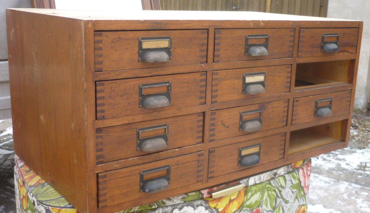 schöner alter apothekerschrank schubladenschrank antik loft indutrie ...