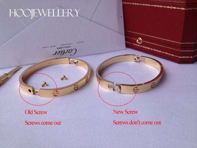 379f1cbbe00 Cartier LOVE bracelet new screw system VS old screw system ...