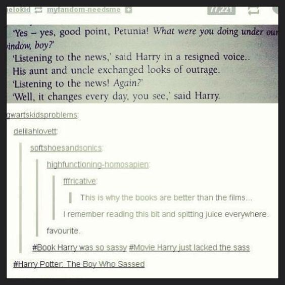 Harry Potter: The Boy Who Sassed.: