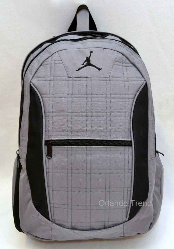 9ffaf1f2c72aef Nike Air Jordan Gray and Black 15 inch laptop backpack for Men ...