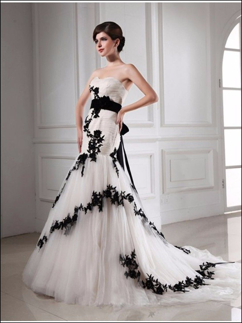 White wedding dress with black lace corset dresses and gowns ideas