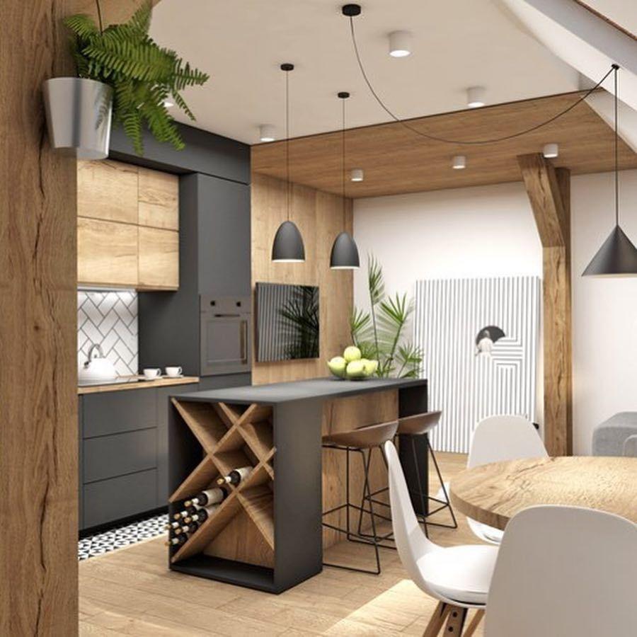 Mieszkaj Jak Lubisz On Instagram Mieszkanie Na Poddaszu W Kamienicy O Powierzchni 45 Mk Kitchen Design Plans Kitchen Interior Design Decor Home Decor Kitchen