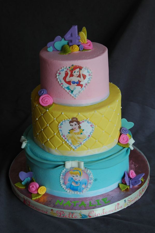 Disney Princess Birthday Childrens Birthday Cakes Karahs Board