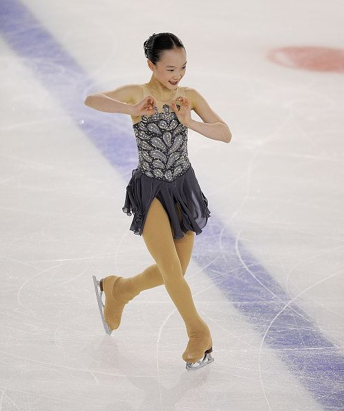 Tessa Hong of the US performs in the junior ladies free skating exercise at the ISU Junior Grand Prix of Figure Skating Logrono on October 2 2015 in...