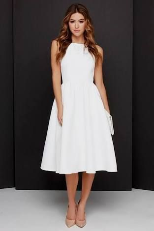 Image result for white cocktail dress