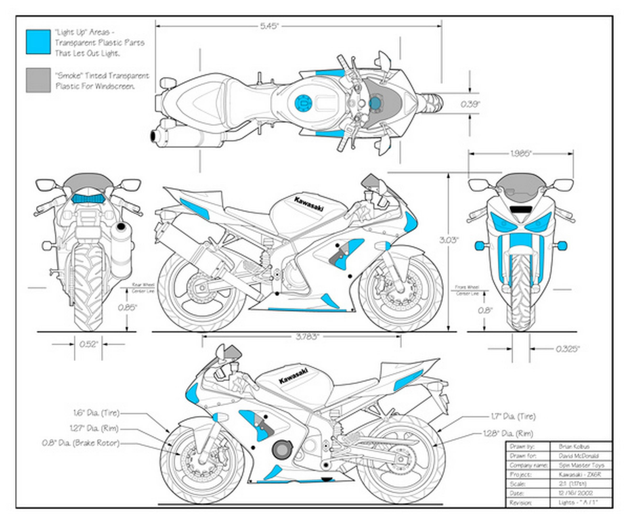 hight resolution of kawasaki zx6r 636 2004 blueprints