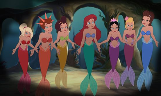 Image result for ariel and sisters