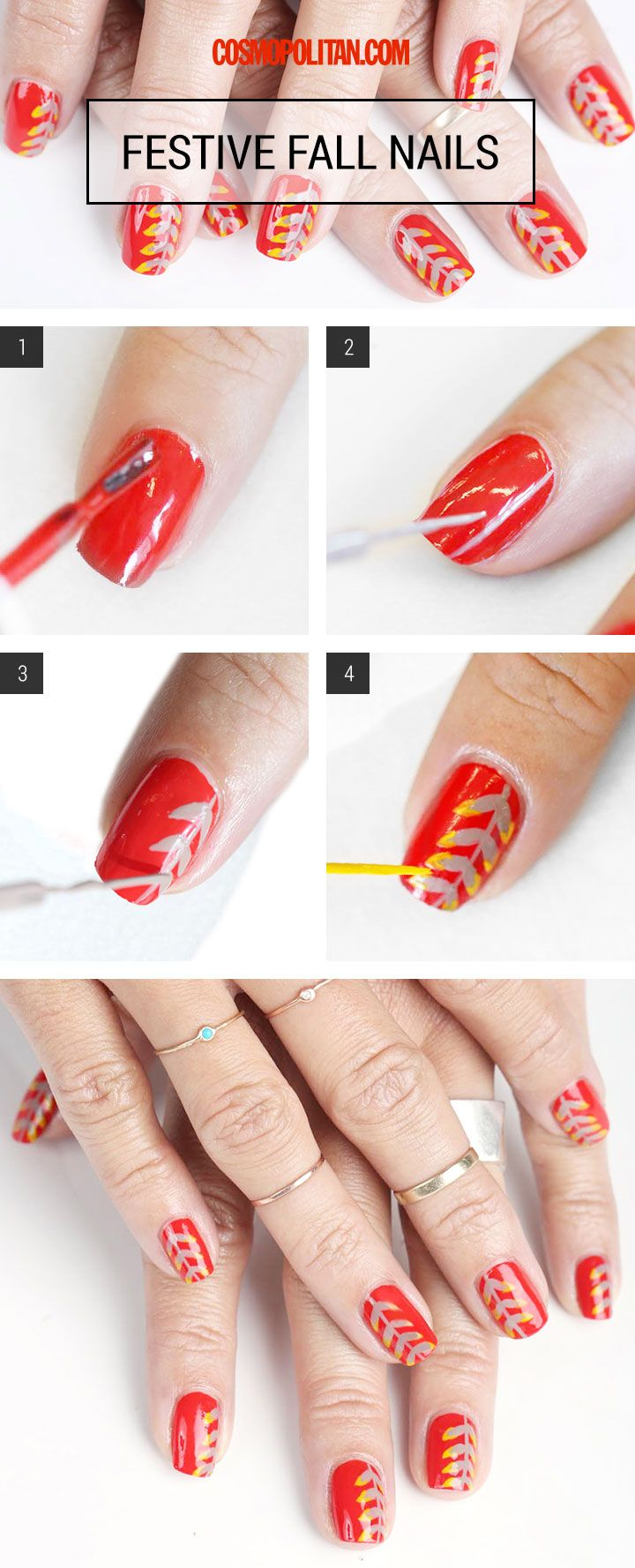 How to Nail This Festive Fall Mani | Makeup, Nail nail and Winged ...