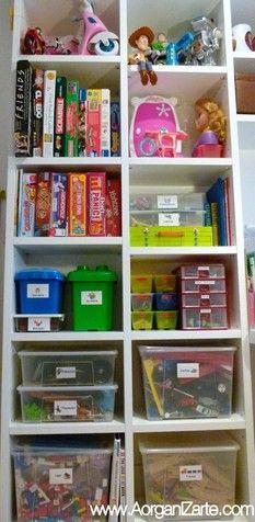 juegos juguetes organiza niños ordenar cajas www.AorganiZarte.com ...