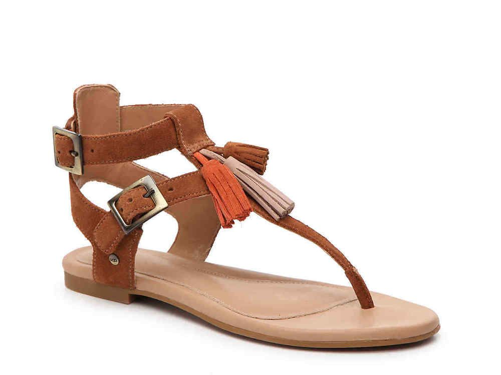 UGG Shoes | Womens Lecia Leather Sandals In Chestnut | Poshmark
