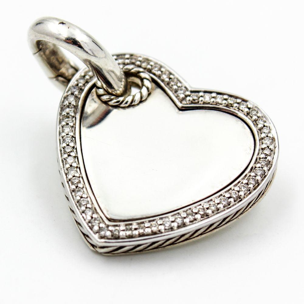David yurman diamond cable heart enhancer pendant in sterling silver david yurman diamond cable heart enhancer pendant in sterling silver 26mm aloadofball Gallery
