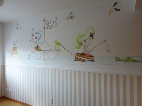 murales artisticos pintados a mano