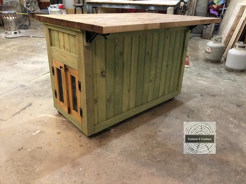 rustic kitchen island on wheels made to order etsy in 2020 rustic kitchen island kitchen on outdoor kitchen on wheels id=99121