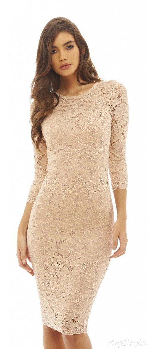 AX Paris Women s Lace Bodycon Midi Dress  bb9a689bc