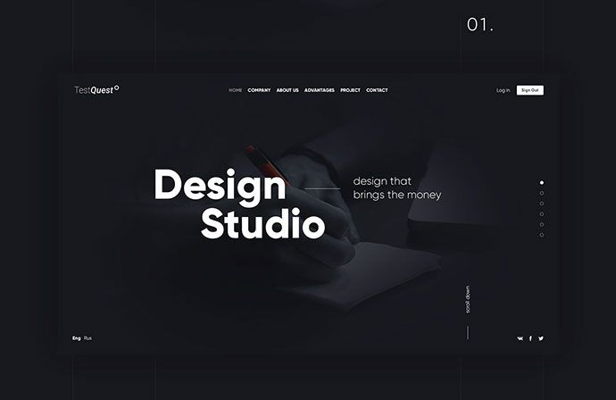 Design Studio : landing