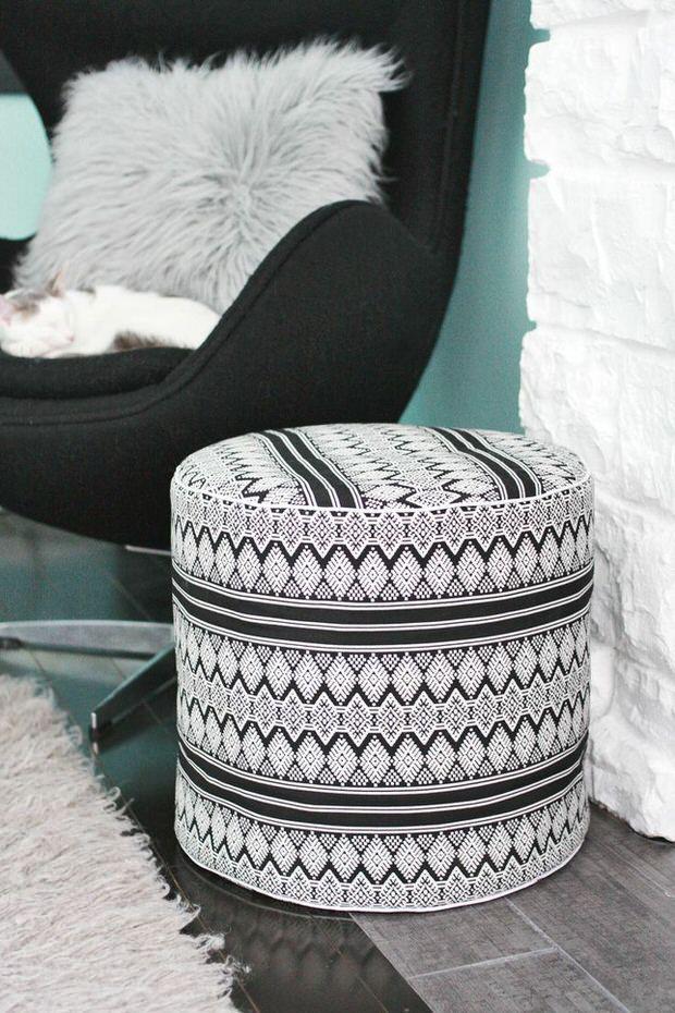 Poufs Diy Projects Diy Pouf Floor Pouf Diy Ottoman
