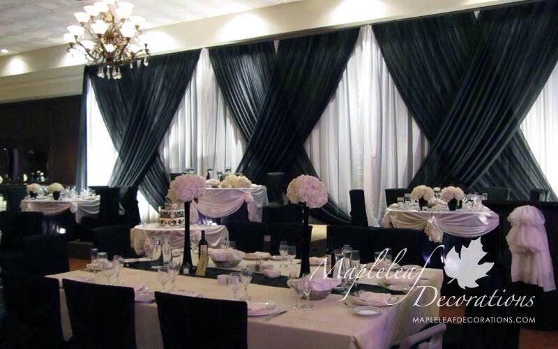 light pink and black wedding - Google Search | Wedding Draping in ...