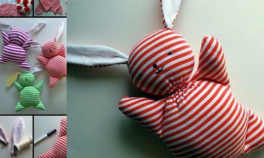 Maak zelf een schattig knuffel konijn voor je baby handgemaakt rabboon ontwerp unieke - Bebe ontwerp ...