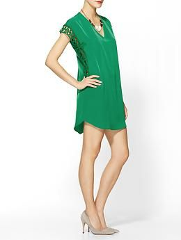 Collective Concepts Crochet Trim Shift   Piperlime....st patties day is so close!