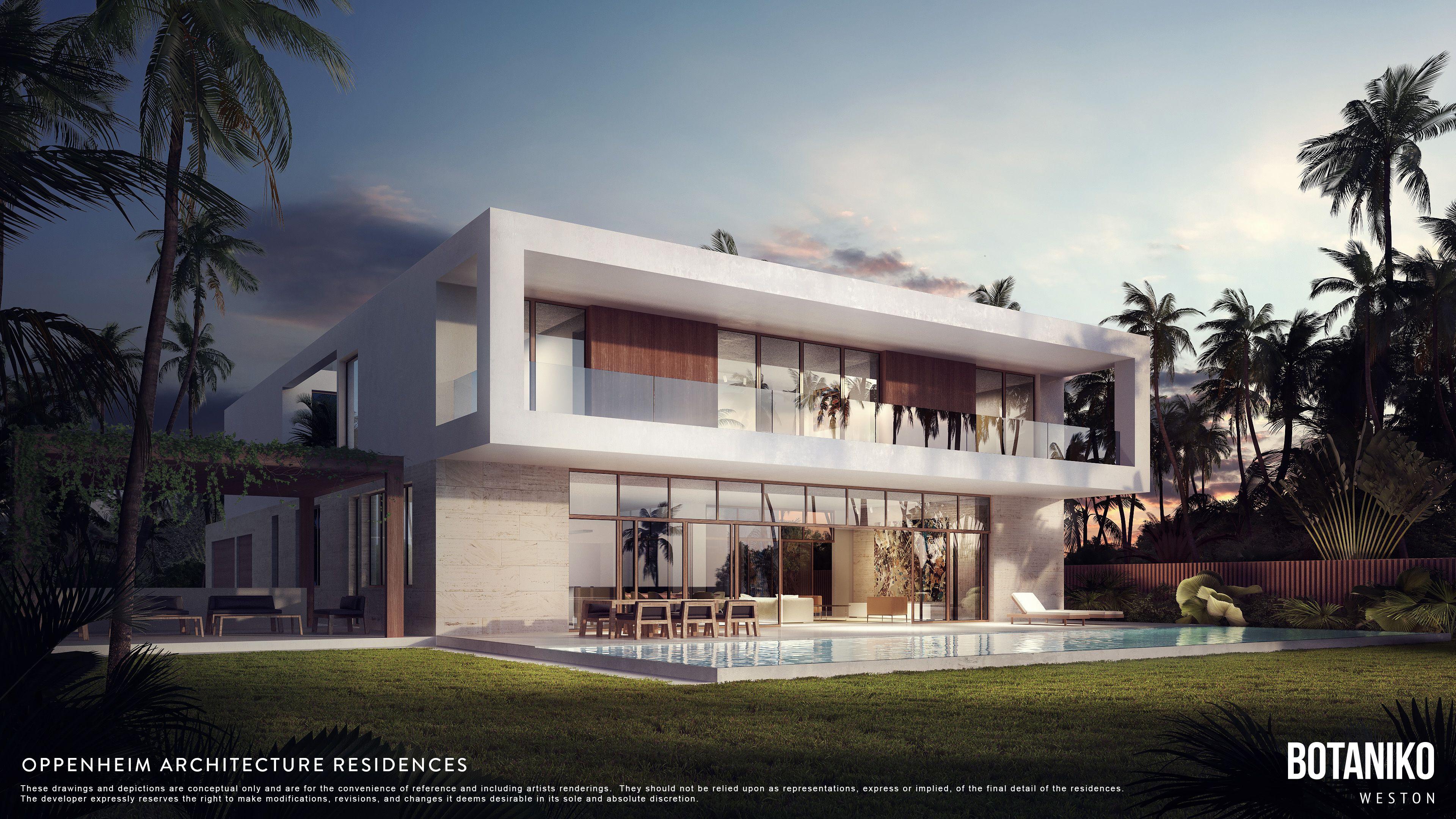 modern homes in weston fl botaniko weston fl pinterest