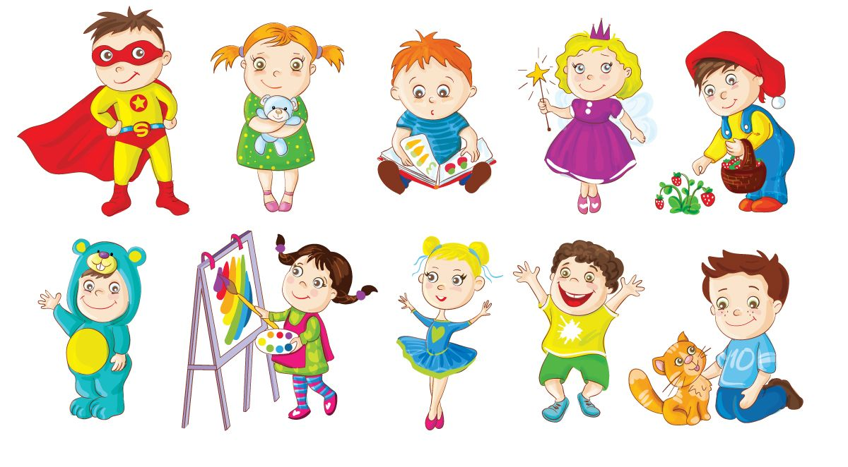 cute and funny toddlers doing different activities