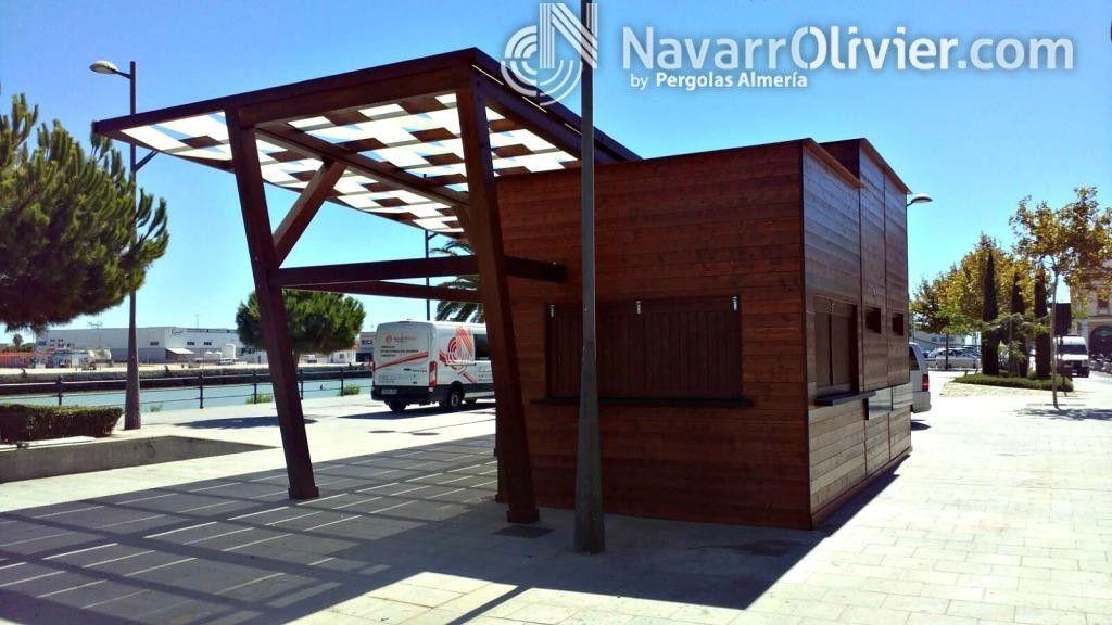 Chiringuito construido mediante muros prefabricados de for Kioscos prefabricados de madera