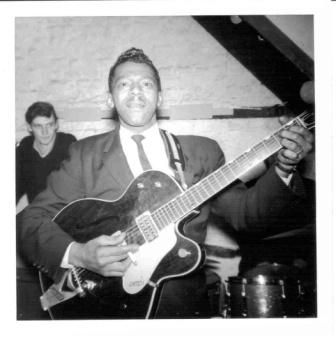 #blues Rare, rare photos of Little Walter in England, 1964.