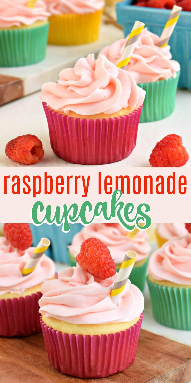 Easy Raspberry Lemonade Cupcakes Recipe - Shugary Sweets