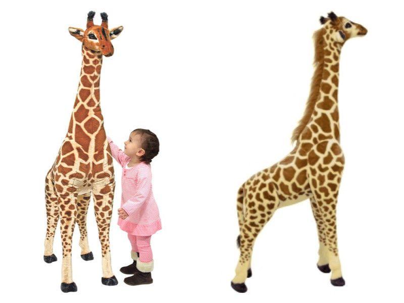 Melissa Doug Giant Jumbo Stuffed Giraffe Plush 5 Feet Tall Life