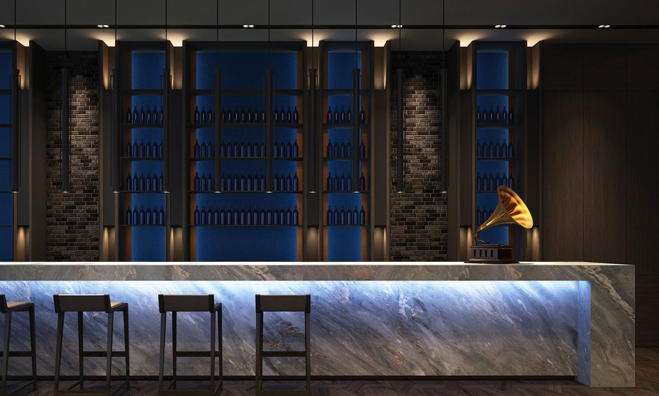 Lalu Hotel And Mixed Use Development Nanjing China Bar Design Restaurant Bar Lounge Scda Architects