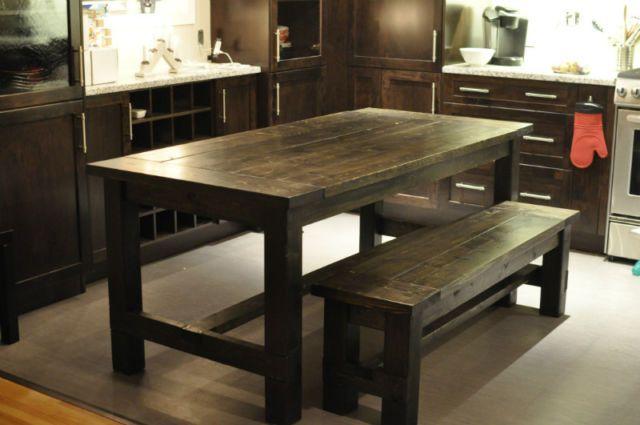 Marvelous Rustic Farmhouse Style Dining Table 34X72 With Matching Creativecarmelina Interior Chair Design Creativecarmelinacom