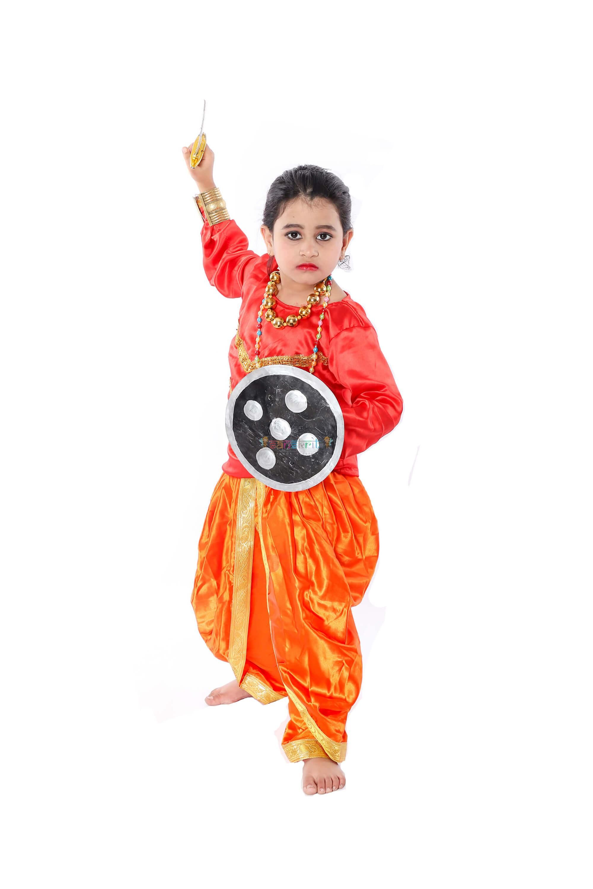 Buy online golden and red combination Chhau Dance Fancy