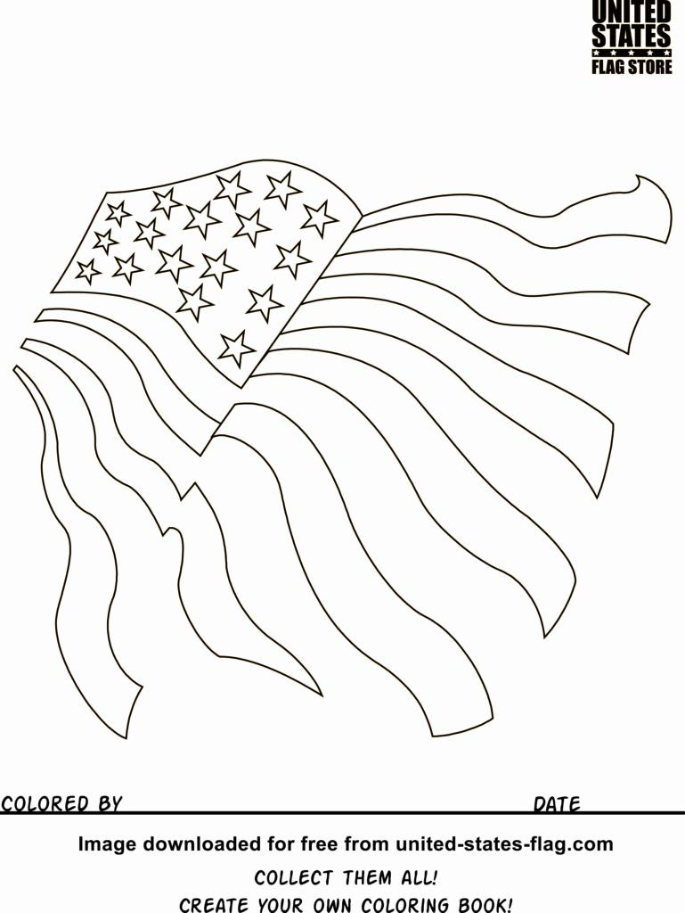 Flag Day Coloring Sheets Inspirational Coloring American Flag