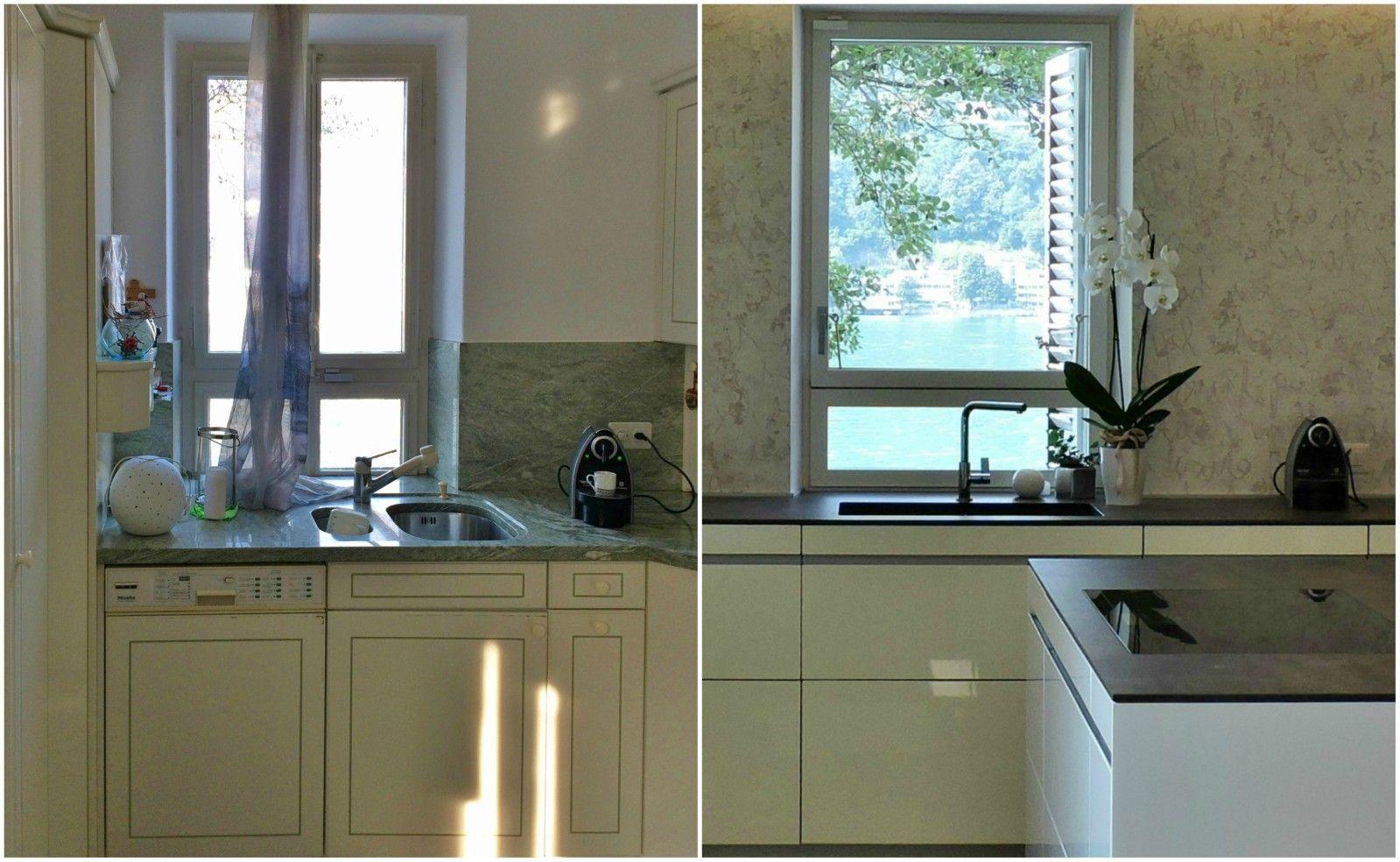Prima e dopo di una #cucina aperta sul soggiorno #kitchen ...