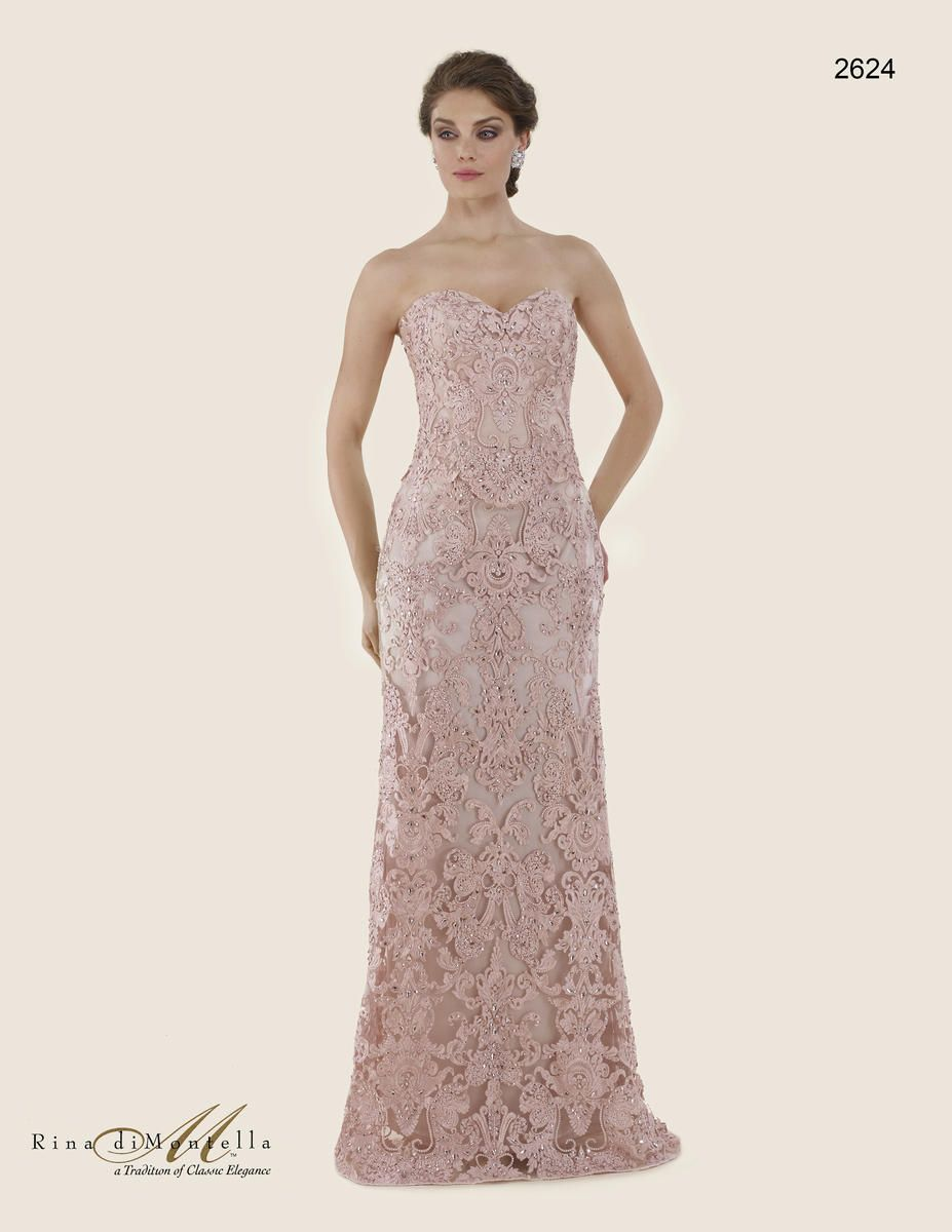 d8eab97a60a Rina Di Montella 2624 Lace Mother of the Bride Dress  French Novelty