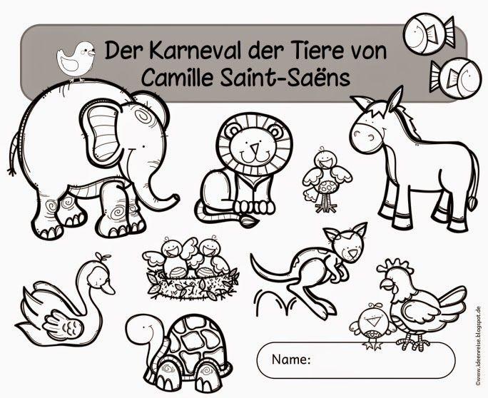 """arbeitsheft zum """"karneval der tiere"""" von camille saint"""