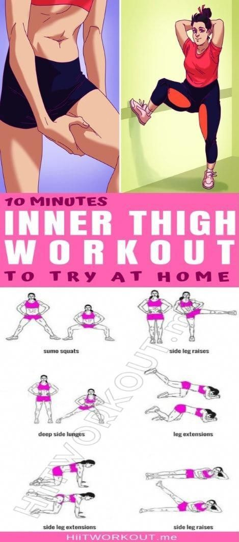 A 10-Minute Inner Thigh Workout To Try At Home A 10-Minute Inner Thigh Workout To Try At Home. 💪 #Gy...