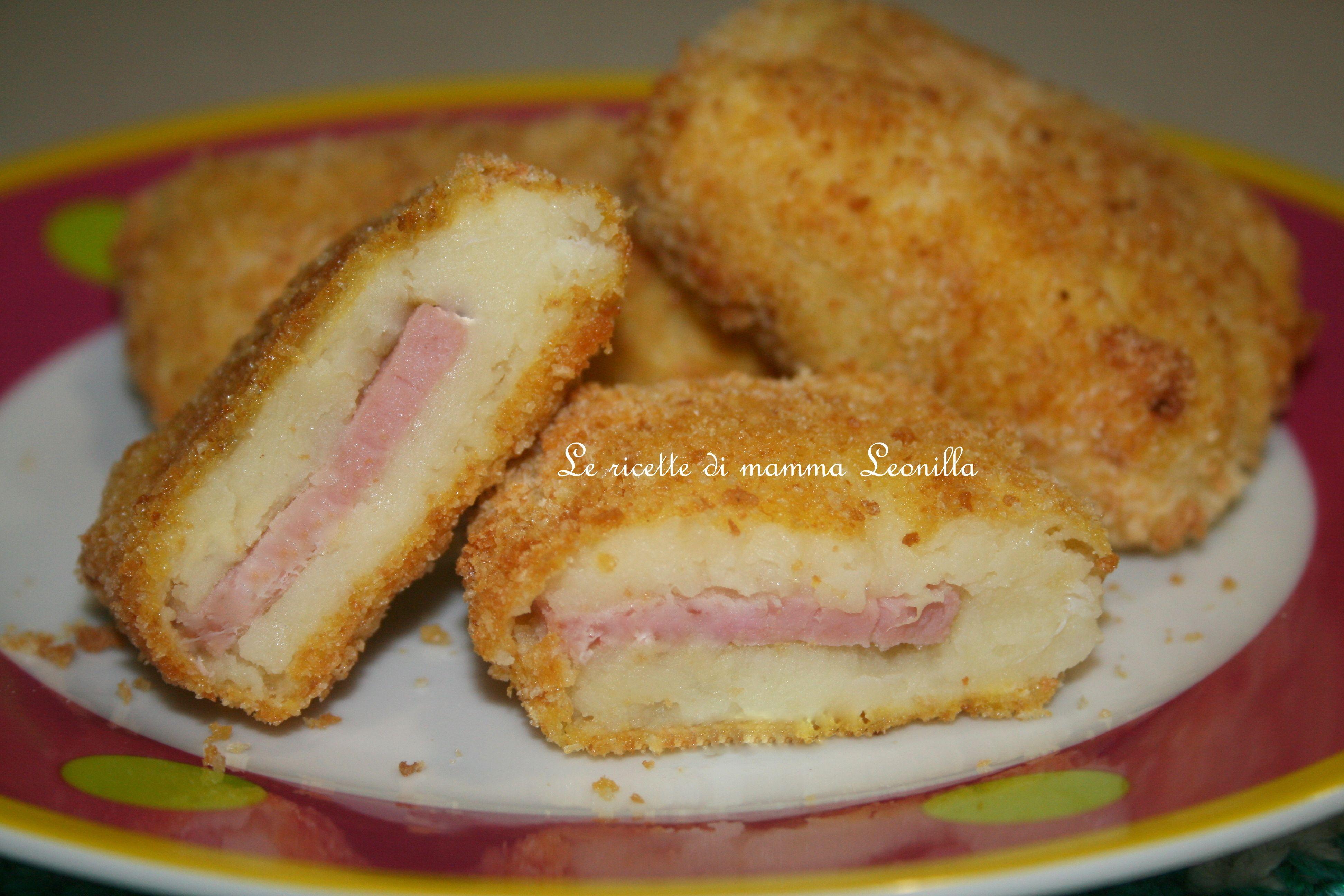 crocchette di patate e prosciutto cotto al fornoricetta finger food