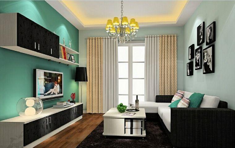Repeindre salon id es de couleurs pastel - Peinture lumineuse pour salon ...