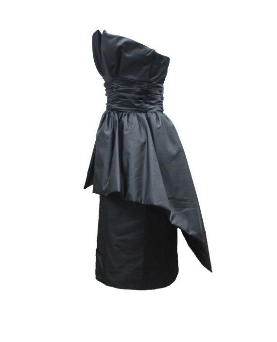 Paris Designer Black Cocktail Dress Scenes