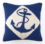 Anchor Nautical Pillow - Royal Blue