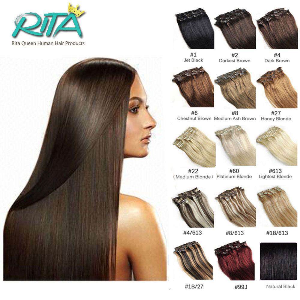 color human clip in hair extensions g pcsset g pcs