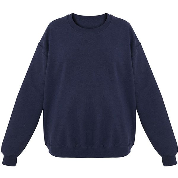 Ultimate Light Blue Crew Neck Sweater (€21) ❤ liked on Polyvore featuring tops, sweaters, crew top, light blue top, light blue crew neck sweater, over sized sweaters and crew sweater