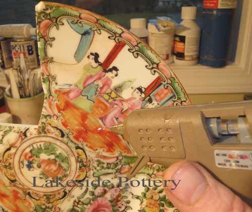 how to repair broken ceramic pottery