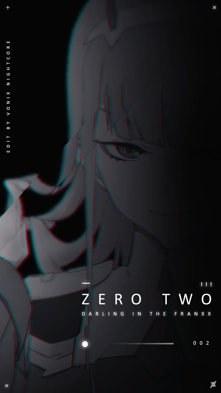 Zero Two And Hiro Aesthetic Wallpaper